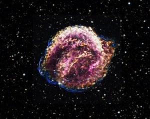 A month in space: The debris from a supernova observed in 1604.