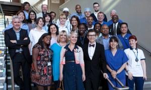Gareth Malone and members of Lewisham choir