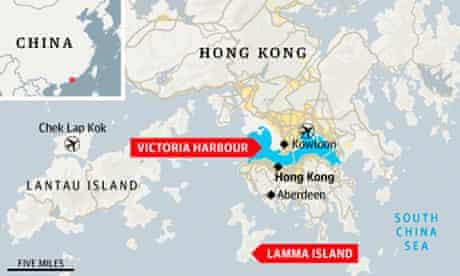 Hong Kong ferry map