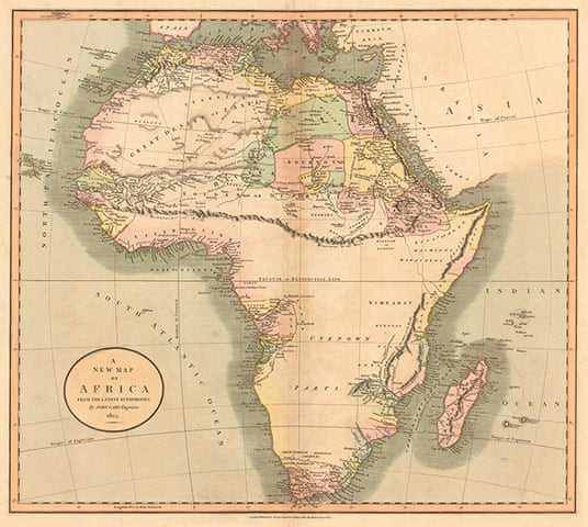 Map Of Africa Drawing.Africa Mapped How Europe Drew A Continent News The Guardian
