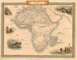 Africa map: Africa map: Tallis
