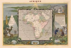 Africa map: Africa map: Levasseur