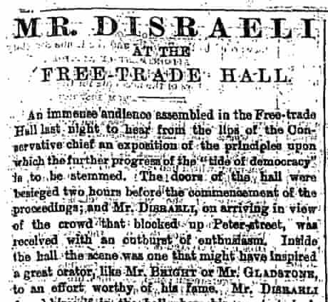 Disraeli speech 1872 One Nation