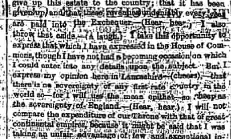 Disralie's One Nation speech 1872 part 2