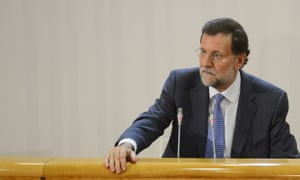 Spanish Prime Minister Mariano Rajoy gives a press conference in Madrid on October 2, 2012,