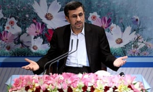 Iranian president, Mahmoud Ahmadinejad, accused his rivals of exacerbating the currency crisis