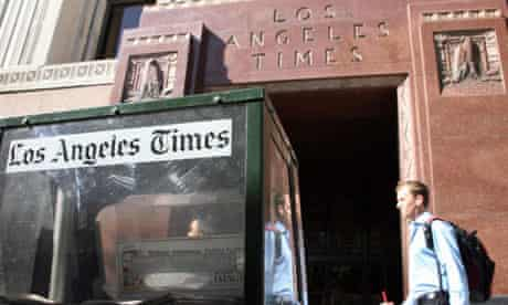 Rupert Murdoch is reported to be interested in buying the Los Angeles Times and Chicago Tribune
