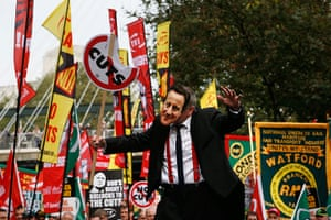 TUC march: David Cameron disguise