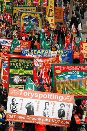 TUC march: Toryspotting