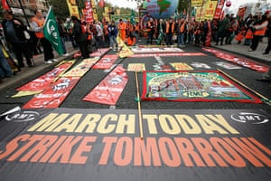 TUC march: Banners