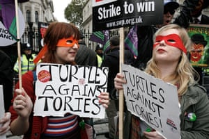 TUC march: Turtles against Tories
