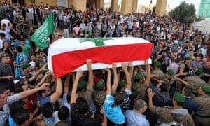 General Wissam al-Hassan funeral