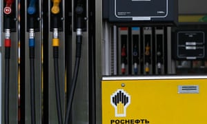 petrol station of Russian state oil firm Rosneft