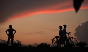 A beautiful Burmese sunset captured next to the Inya lake in Rangoon