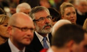 Sinn Fein president Gerry Adam