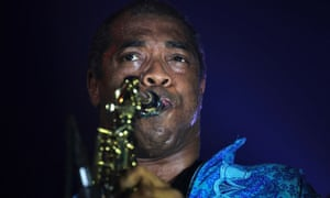 Musician Femi Kuti, son of Nigeria's music legend Fela Kuti, plays the saxophone at a show marking the end of a week-long celebration honouring Fela, in Lagos. Fela Kuti, a human rights activist and Afrobeat music pioneer, died in 1997.