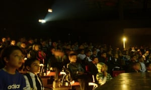 More from Afghanistan: here children watch a movie at the French cultural institute in Kabul. More than a hundred Afghan children aged less than 10 had their first experience of a cinema when they watched an animated movie. There are only four cinemas left in the country - three in Kabul and one in Herat, but none of them shows movies for children