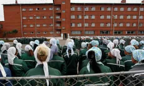 Inmates at women's prison in Russia