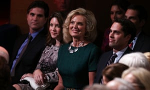 Ann Romney attends the debate between Barack Obama and Mitt Romney at Lynn University in Boca Raton, Florida.