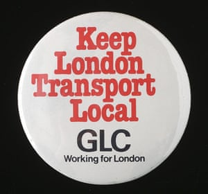 Underground book: Keep London Transport Local - GLC badge
