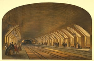 Underground book: Lithograph of Baker Street Station