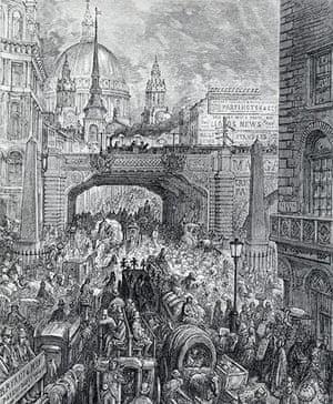 Underground book: illustration of Ludgate Hill by Gustav Dore,