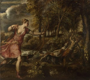 Autumn paintings: Titian's The Death of Actaeon from around 1559-75