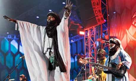 Tinariwen performing at the World Cup 2010 Kickoff concert in Soweto, South Africa