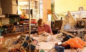 Fixpert designer working in his studio
