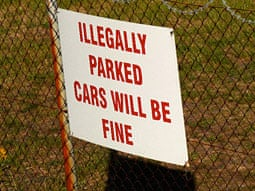 Just My Typo: typo on Car sign