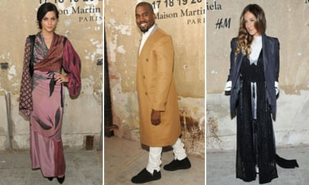 Leigh Lezark, Kanye West and Sarah Jessica Parker attend the Maison Martin Margiela with H&M event