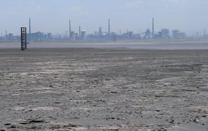 Toxic pollution: A vast expanse of toxic waste fills the