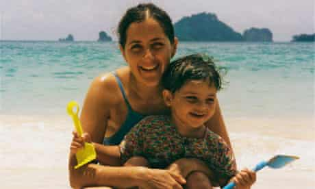 Frances Harrison with her son