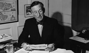 Ian Fleming in his Study