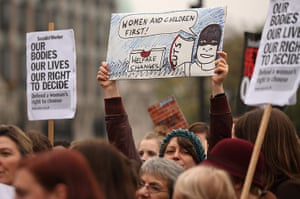 Sufragette march: Campaigners attend a rally organised by UK Feminista
