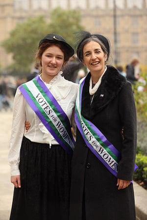 Sufragette march: Dr Helen Pankhurst, granddaughter of Emmeline Pankhurst