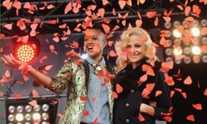 Alesha Dixon and Pixie Lott  launch the 2012 Poppy Appeal in Trafalgar Square, London.