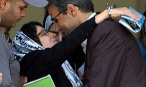 Nasrin Sotoudeh embraces her husband