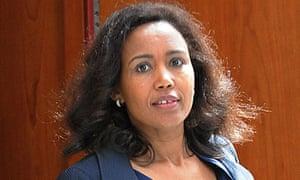 Azeb  Mesfin, wife of Ethiopian Prime Minister Meles Zenawi