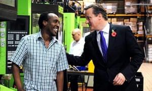 David Cameron visits factory