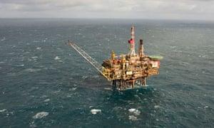 Gannett Alpha oil platform in the North Sea