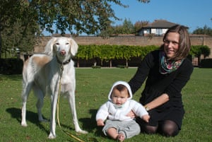 Dogs: Caroline Meadows and Bertie with Neen
