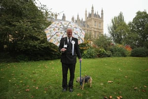 Westminster Dog: Edward Leigh with his dog