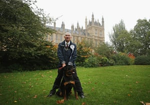Westminster Dog: Lindsay Hoyle with his dog