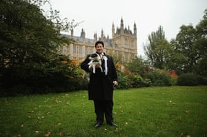 Westminster Dog: Mathew Offord with his dog
