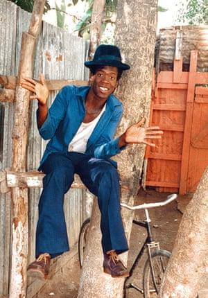 Jamaican Musicians: Singer Tenor Saw wearing Wallabee boots, Kingston