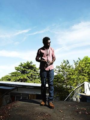 Jamaican Musicians: Singer Chronixx wearing Clarks wallabees, Vineyard Town, Kingston