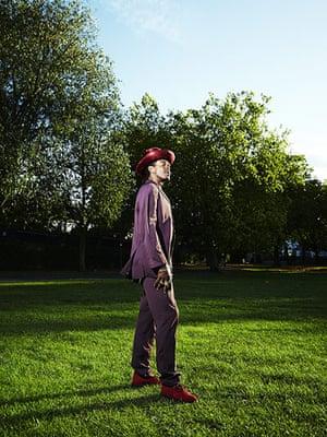 Jamaican Musicians: Singer Michael Prophet in desert boots, London, 2011