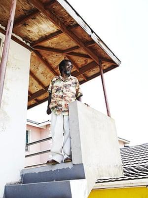 Jamaican Musicians: Half Pint, singer pictured wearing desert treks, Kingston, 2011