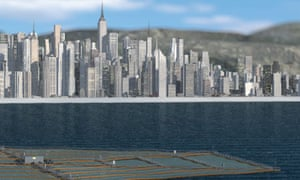 SUNdy, a large scale floating offshore solar field concept